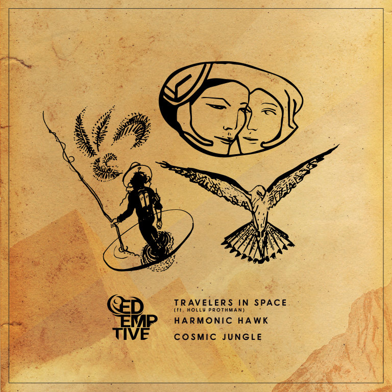 ill. til cover for (Redemptive - Travelers In Space EP)
